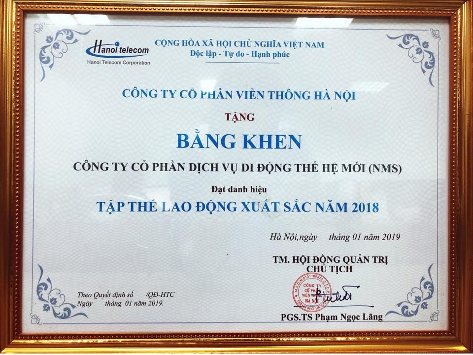 NMS trao tặng bằng khen