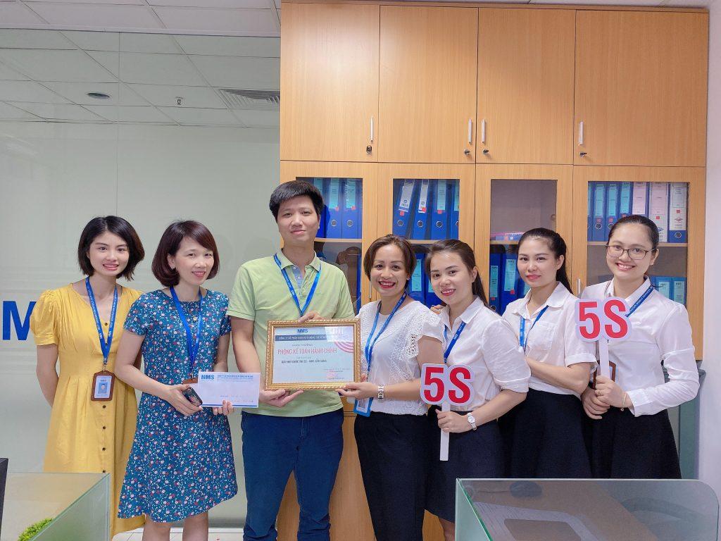 """Chúc mừng phòng Kế toán hành chính đạt Giải Nhì cuộc thi """"5S - NMS sẵn sàng"""""""