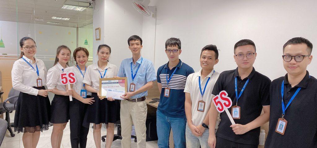 """Chúc mừng phòng Nội dung và Kỹ thuật đạt Giải Ba cuộc thi """"5S - NMS sẵn sàng"""""""